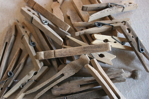 very old clothes pins