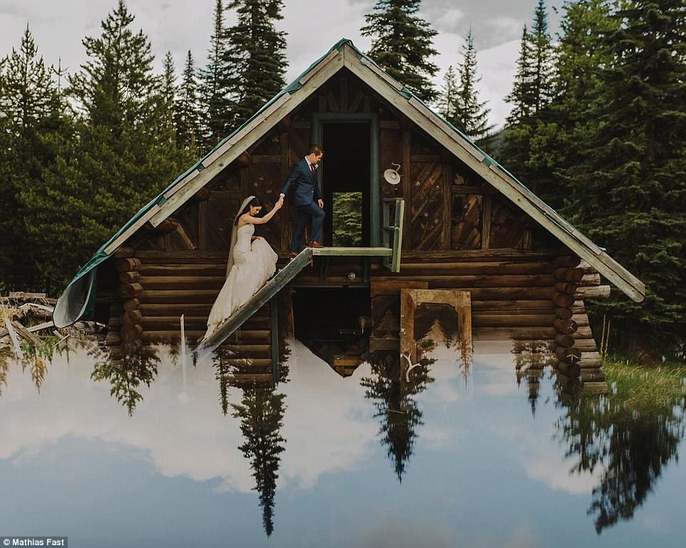 Memorizing: Mathias Fast - a wedding photographer based in Richmond, British Columbia - incorporates a phone screen to create stunning reflective photographs