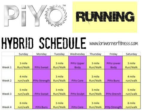 piyo calendar images  pinterest fitness