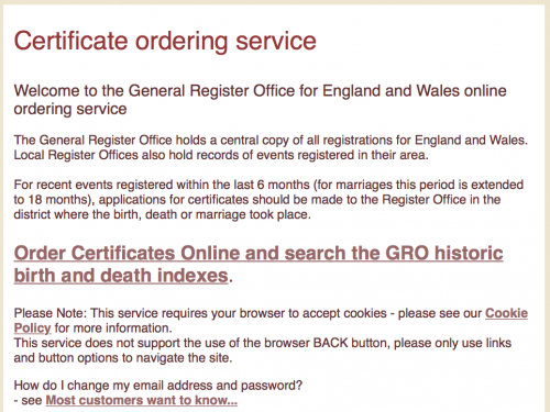 New GRO BMD indexes and cheaper PDF certificate option | Genealogical Ponderings