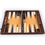WE Games Luxury Wood Backgammon Set with Leatherette Interior - 19 inches - Handcrafted in Greece