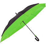 Peerless 9100 -BLACK-LIME The Crusader Umbrella Black & Lime