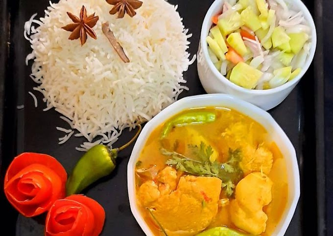 Easiest Way to Prepare Homemade Chicken gravy and boiled rice with peach drink