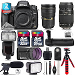 Nikon D610 DSLR + AFS 24-70mm 2.8G + Tamron 70-300mm + LED + Pro Flash + 48GB