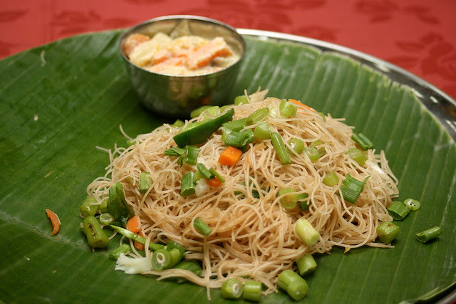 Brown rice beehoon stirfried with vegetables