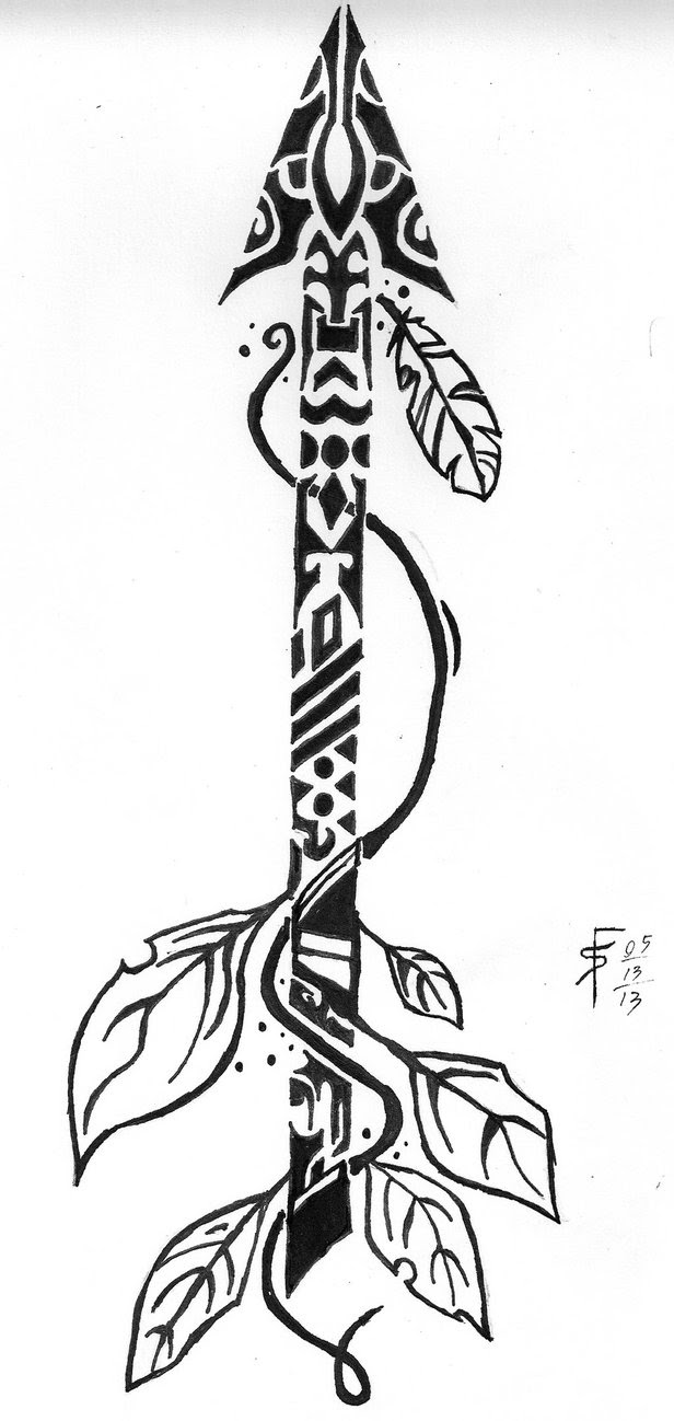 Native American Arrow Drawing At Getdrawingscom Free For Personal