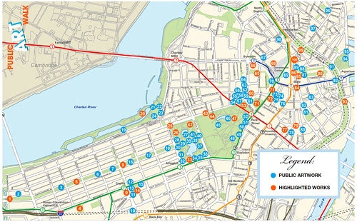 Map: Boston Public Art Walk