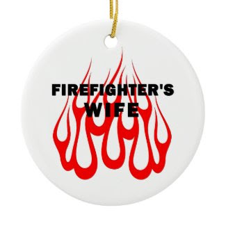 Firefighter's Wife Flames ornament