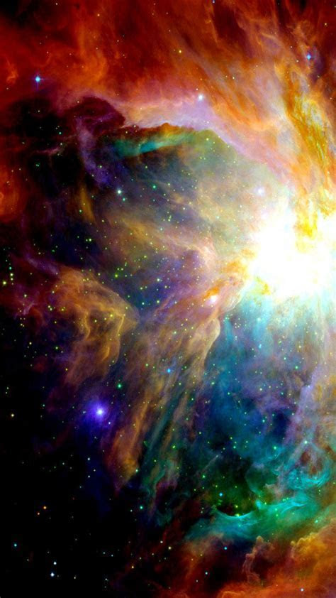 Colorful Galaxy Illustration Android Wallpaper free download