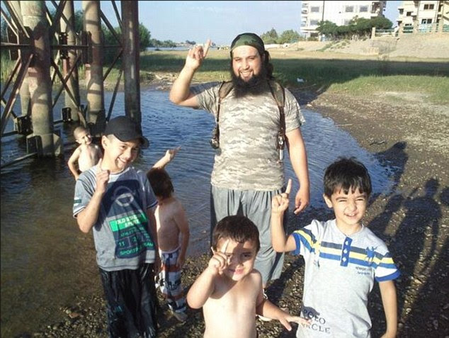 Encouraging children:Since joining ISIS in March 2013, Chaib has worked hard to raise his profile, appearing in a dozens of sickening propaganda video releases and photographs,