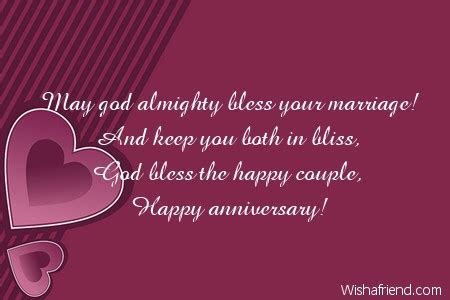 May god almighty bless your marriage! And, Religious