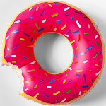 Strawberry Frosted Donut Pool Float Pink - Sun Squad