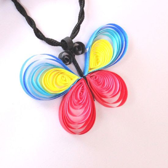 make a quilled butterfly pendant via @Guidecentral