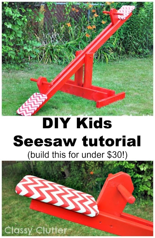 DIY Kids Seesaw for under $30 -