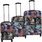 McBrine Eco Friendly Hard Sided Expandable 3 PC Luggage Set
