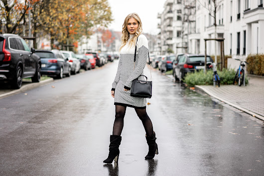 Outfit: Winterkleid x Slouch Boots w/ Zalando - Sunnyinga Fashion Blog