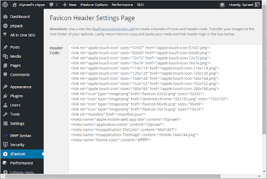 New WordPress Plugin: Favicon-Header