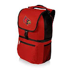 Picnic Time 634-00-100-304-0 University of Louisville Cardinals Digital Print Zuma Backpack Tote Bag Red