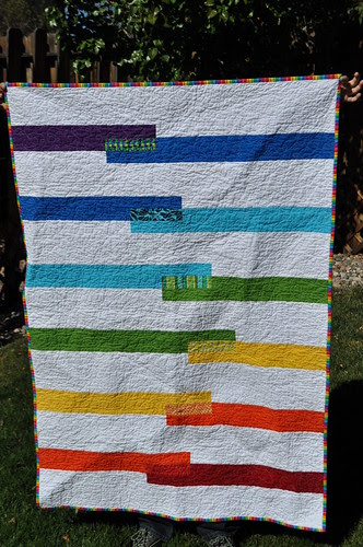 Fruit Stripe Quilt ~ Front