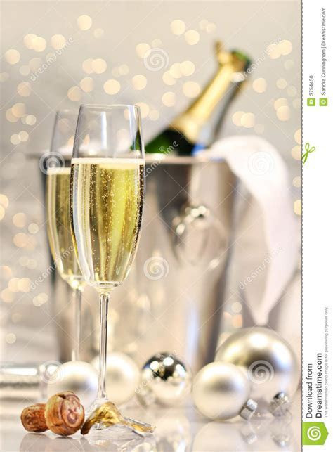 Silver Champagne Party Stock Photo   Image: 3754450
