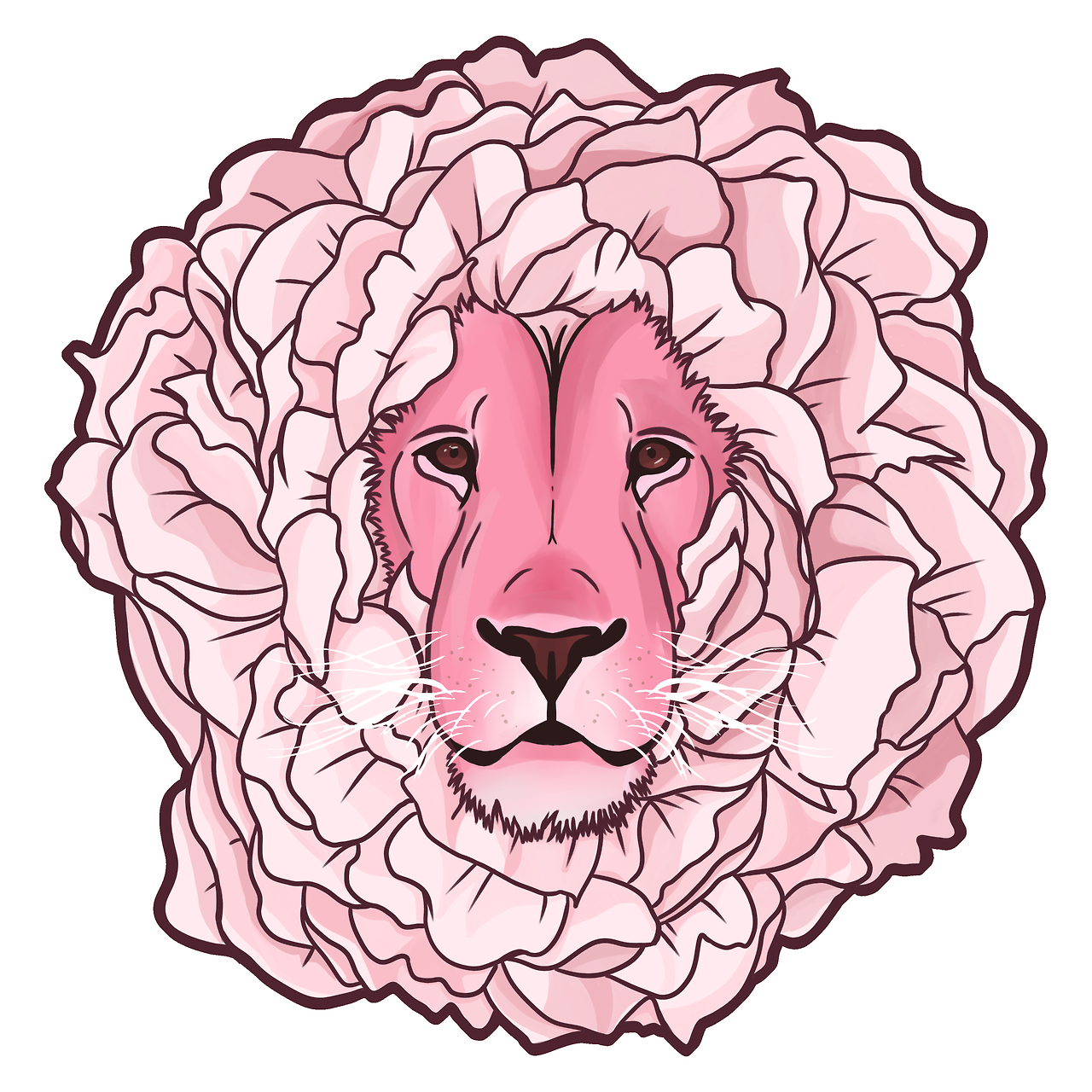 My friend gave me a painting of lion so I wanted to return the favour, so here's a peony lion
