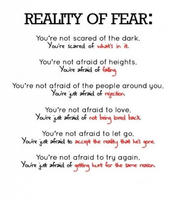 Quotes About Fear And Love 563 Quotes