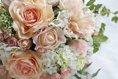 Peach Wedding Flowers   Laurel Weddings