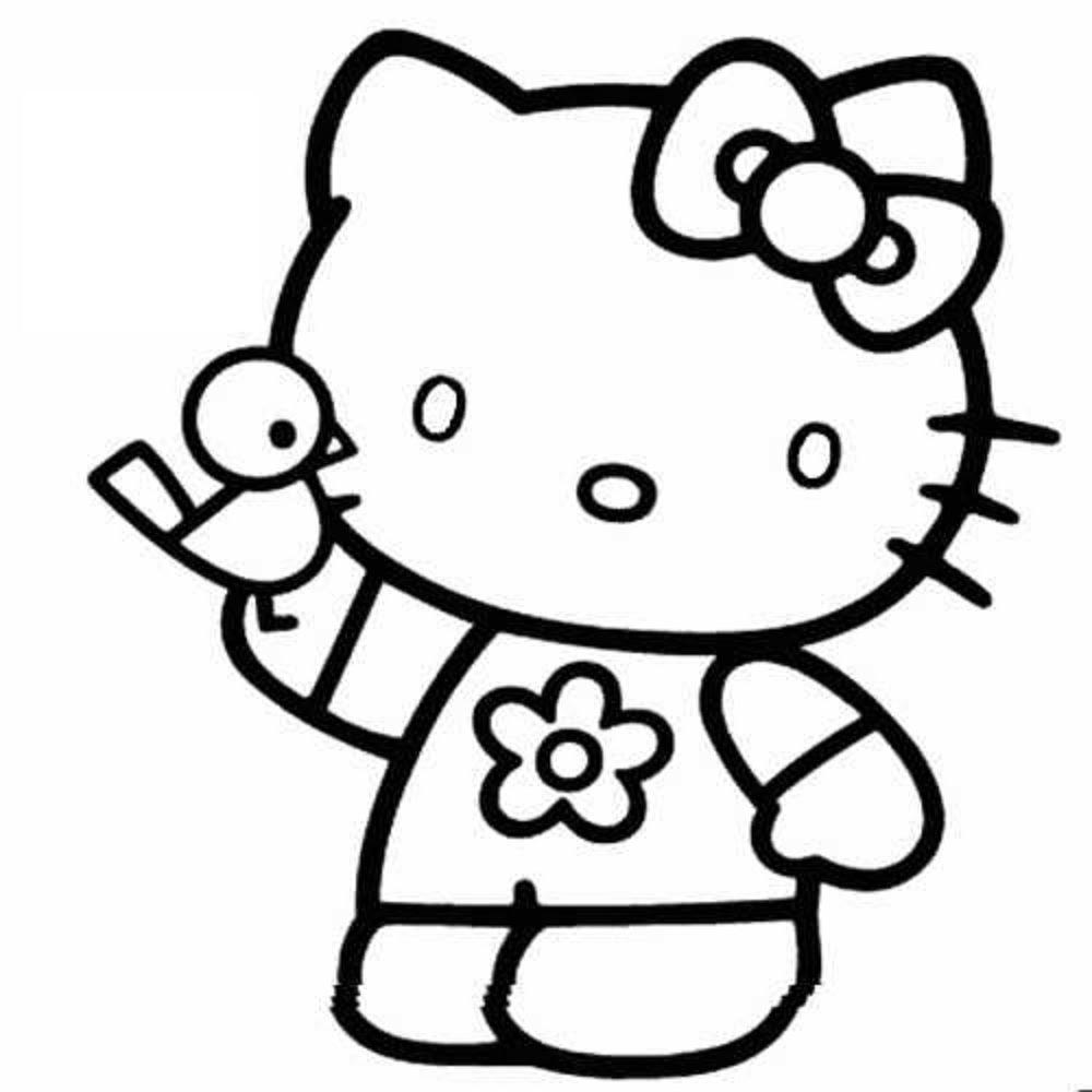 Dibujos Para Colorear Faciles De Hello Kitty