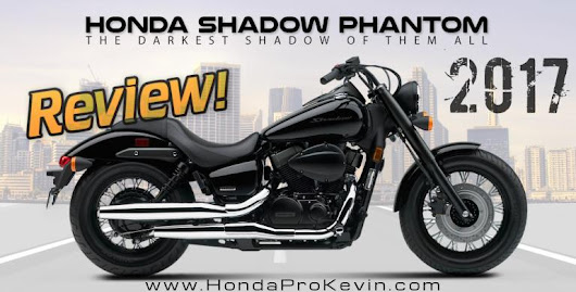 2017 Honda Shadow Phantom 750 Review of Specs / Features | Blacked Out Cruiser / Motorcycle (VT750C2BH)