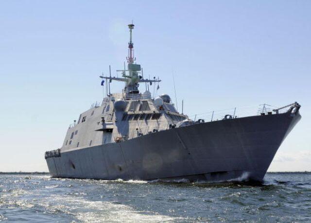 <p>U.S. near-shore combat ships are staying very near shore, away fromcombat.</p>  Photographer: Lockheed Martin via Getty Images