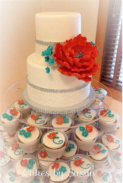 Best 25  Turquoise wedding cakes ideas on Pinterest   Teal