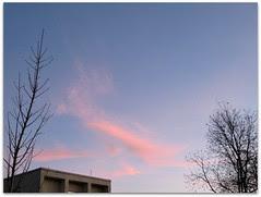 December morning sky