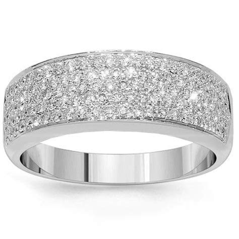 White Gold Engagement Rings Thick Band   Engagement Ring USA