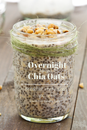 Overnight Almond Oatmeal with Chia and Maple