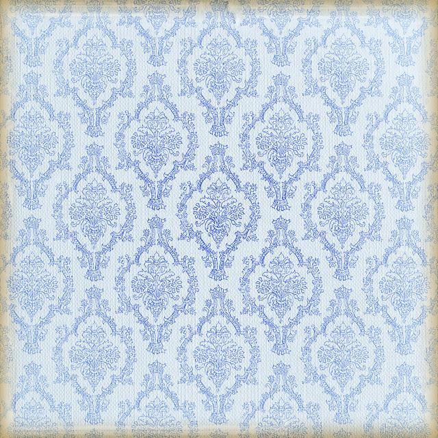 Adamascado azul degradado