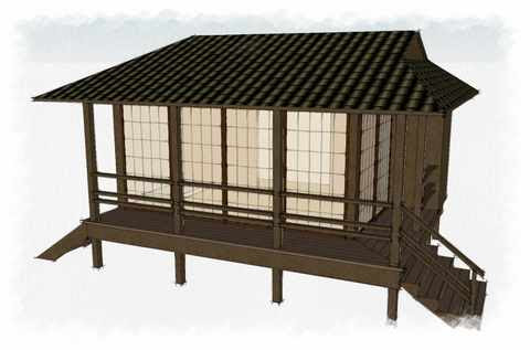 Japanese Garden Shed