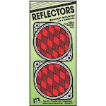 """Hy-ko Cdrf-3r Bracketed Nail-on Reflector, 3-1/4"""", Red, 2-pack"""