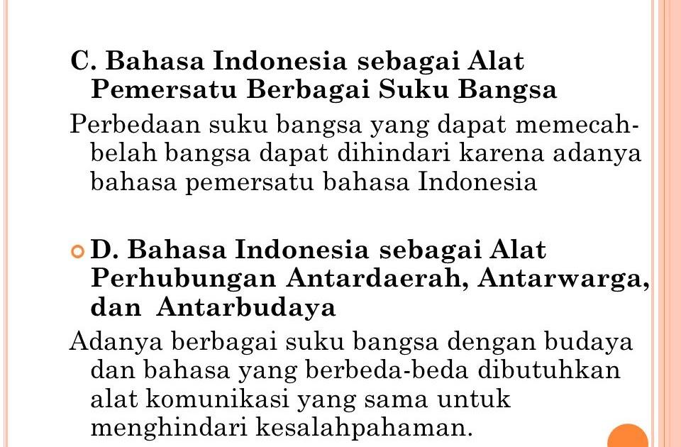 Alat Pemersatu Komunikasi Berbagai Suku Bangsa Di Indonesia Adalah Berbagai Alat