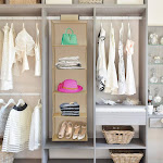 Lavish Home 83-73 Hanging Closet Organizer - 5 Shelf Storage
