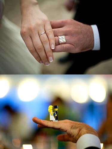 Lego wedding ring