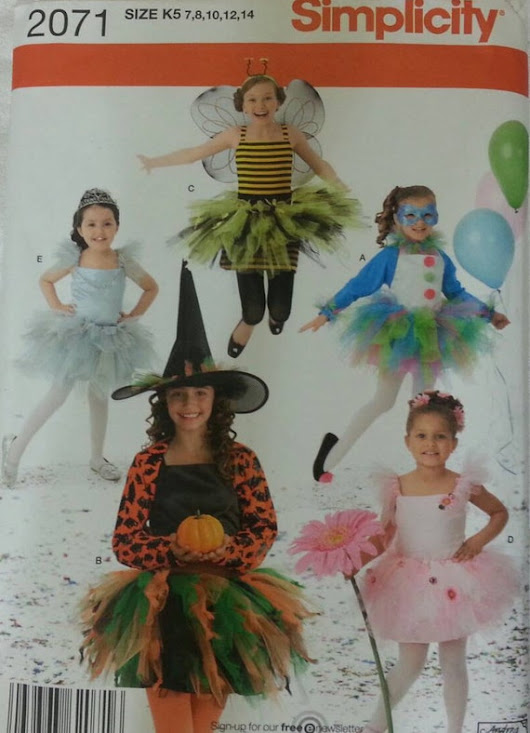Simplicity 2071 Girls Costume Size 7-14 by VintageSewingShoppe