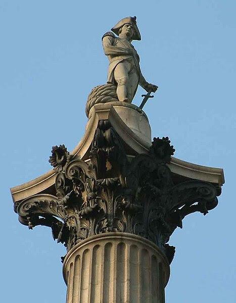 File:Nelson On His Column - Trafalgar Square - London - 240404.jpg