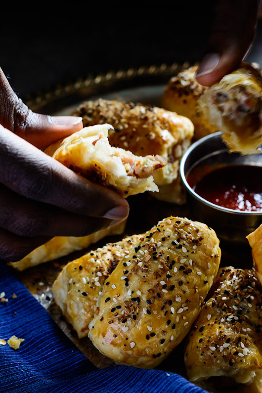 Chicken and Pancetta Sausage rolls - Yummy Medley
