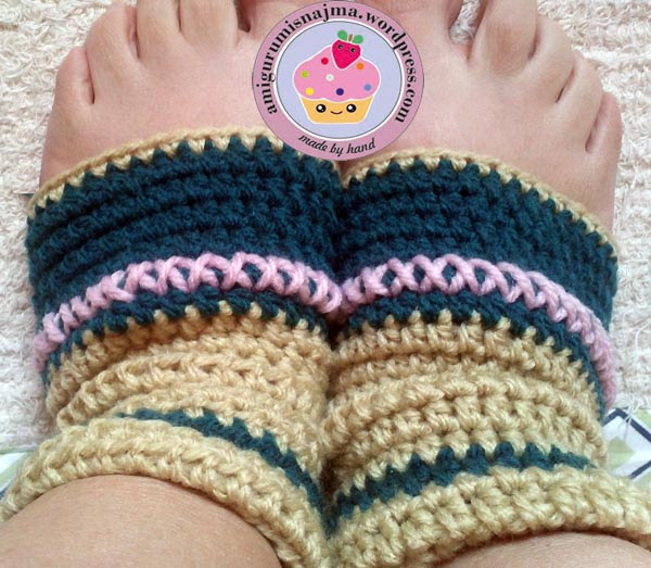 sock crochet yoga calcetines