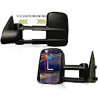 TERRAIN VISION Spead-Vmall DOT Approved Towing Mirrors, Side View Tow Mirrors for Pickup Truck with Power Heated