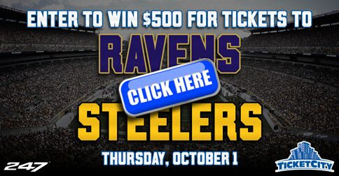 Enter to win $500 for Tickets to Steelers vs Ravens!
