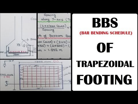 BBS (Bar Bending Schedule) - Trapezoidal Footing & Rectangular Footing Reinforcement Details | Learning Technology