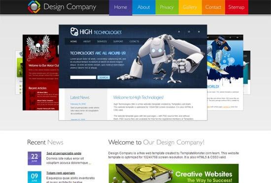 Design Company free CSS template