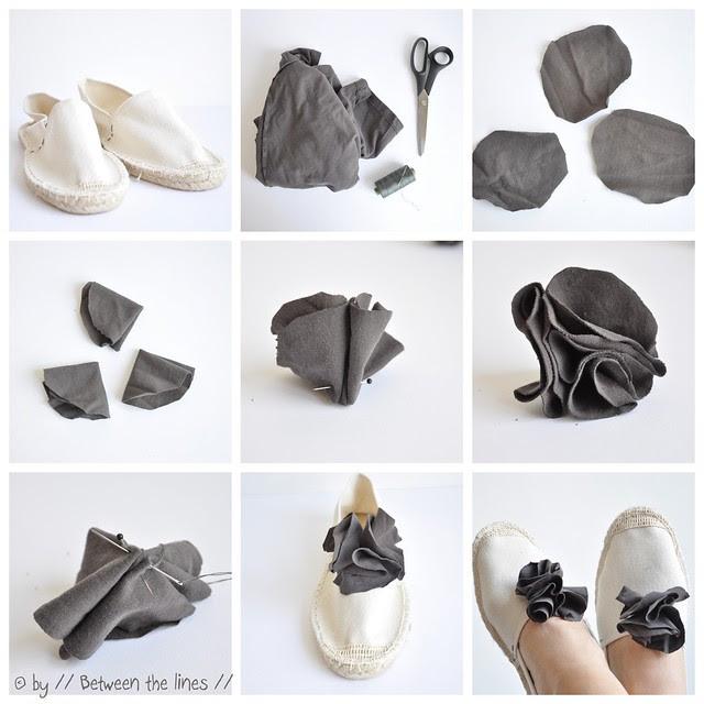Creative with espadrilles :: a DIY