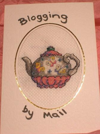 Blogging By Mail 10 Things:  Cross Stiched Card